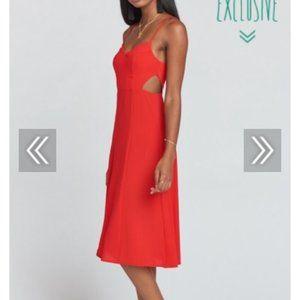SMYM Claire Cutout Dress Tango Red XL